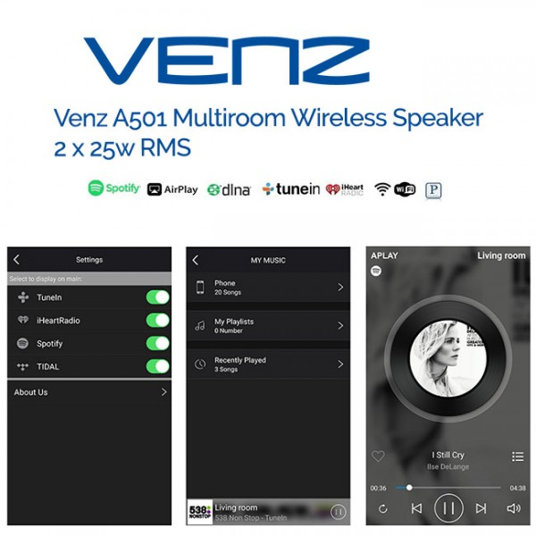VENZ A501 MULTIROOM Smart Wifi Speaker 5