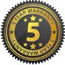 5 year warrantty